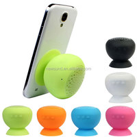 Hot Mushroom Wireless Bluetooth Speaker Waterproof Silicone Sucker Hands Free Speakers For Apple & Android Devices PC Comp