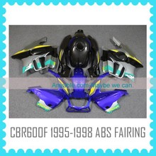 For HONDA CBR600 F3 1995 1996 1997 1998 BLUE Direct Air Induction Fairing kit body kit body work