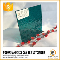 Good cutting 3mm turquoise tiffany color glass sheet