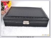 Black Vintage Jewellery Box Jewelry Storage Case with Travel Case