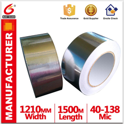 strength Waterproof Aluminum Foil Butyl Tape Hotmelt/solvent in china