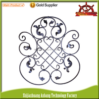Wholesale ornamental wrought iron gate fence stair railing decorative parts