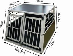 Big Double Alu dog cage /foldable aluminum dog cage/ fashionable Alu dog cage