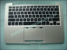Brand new laptop top case plamrest for apple macbook pro 13 1502 2012 2013 with US silver keyboard