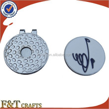 custom magnet golf cap clip ball marker with hat clip