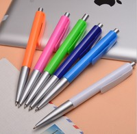 Hot sale plastic ball pen colorful thin ballpoint pen