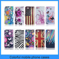 For Apple Iphone 5 5s Colorful Various Flowers And Flag Wallet Leather Case
