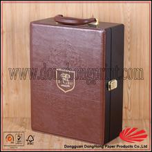 Popular design portable wood case for wine bottles