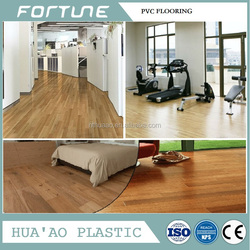 pvc flooring with adhesive rigid decorative sheet for public and home