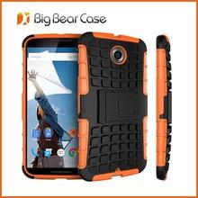 For nexus 6 rugged bumber slim kickstand case