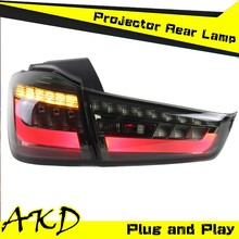 AKD Car Styling Mitsubishi ASX LED Tail Light 2012 ASX Tail Lights ASX led Rear Trunk Lamp DRL+Turn Signal+Reverse+Brake