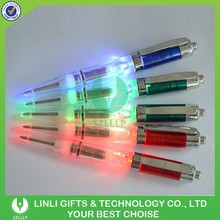 Multi Clolor Plastic Logo Light Led Pen