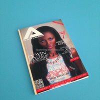 magazine printing monthly a lot of pages four color perfect binding A4 size 2015