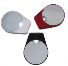 Creative two suction cup LED Light single side Magnifying glass Cosmetic Mirror