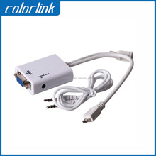 2015 New Products micro usb to vga audio mhl adapter cable