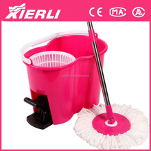 plastic cleaning floor magic mop bucket/2015 Hot sale ROHS certificate approved four device pole mop bucket with plastic pedal
