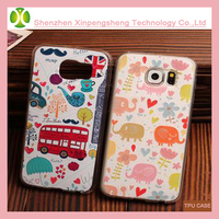 Fashion cartoon waterproof cover case for Samsung S6 case printed