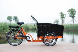 "2015 hot sale three wheel 20""/24"" 250W Electric Cargo Bike/bakfiet/cargobike model UB9031E"
