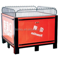 Protable folding wire mesh promotion table