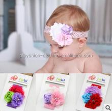 2015 new design baby hair flower accessories cheap princess hair accessories