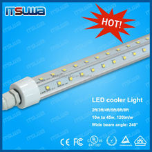 L.E.D. lights for cooler and freezer doors