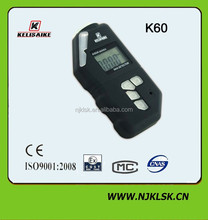 Small size 3V lithium battery operated portable LCD digital display gas leaking detector for O2 CO CH4 H2S lpg NH3 CL2