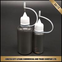 Empty E-liquid black Needle Bottle 10ml Plastic Bottles With Childproof Caps For Chemical e liquid e juice e cigar