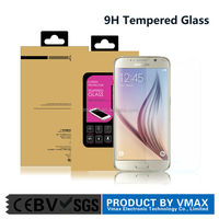 New Products 0.33mm 9H Tempered Glass screen protector fit for Samsung S6 by DMAX