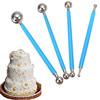Metal Ball Fondant Cake Decorating Sugarcraft Gumpaste Flower Modelling Mold 4PCS