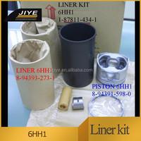 6HH1 Cylinder Liner Kit,6HH1 engine liner kit , excavator engline liner kit