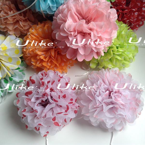 Polka dots hanging tissue paper pom pomsartificial wedding ulk p1325nng mightylinksfo