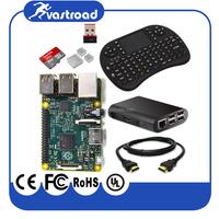 Wholesale Raspberry pi 2 model B starter Kit 8 in 1 with Mini Wireless Remote Control Keyboard