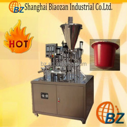 china Fully automatic single bucket /double bucket Rotary plastic cup filling and sealing machine