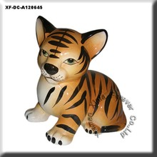 ceramic tiger cub figurine