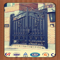 Swing wrought iron gate grill design