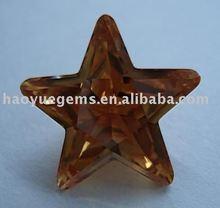 Moda Cubic Zirconia piedra con Precious Brown Star <span class=keywords><strong>ámbar</strong></span> <span class=keywords><strong>de</strong></span> diamante sintético para la joyería