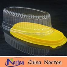 transparent plastic sushi/bread/snack container NTPC- 122B
