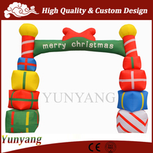 Cheap advertising inflatable arch for sale, outdoor Christmas arches