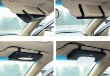 CUSTOM GFIT pvc leather car sun visor tissue pocket for AUDI