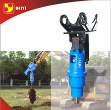 excavator attachment for drilling machine, hydraulic earth drill with auger bit