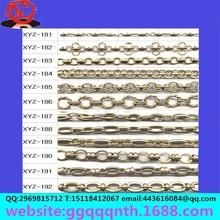 round wire flat wire line elliptic ellipse O shape brass chain
