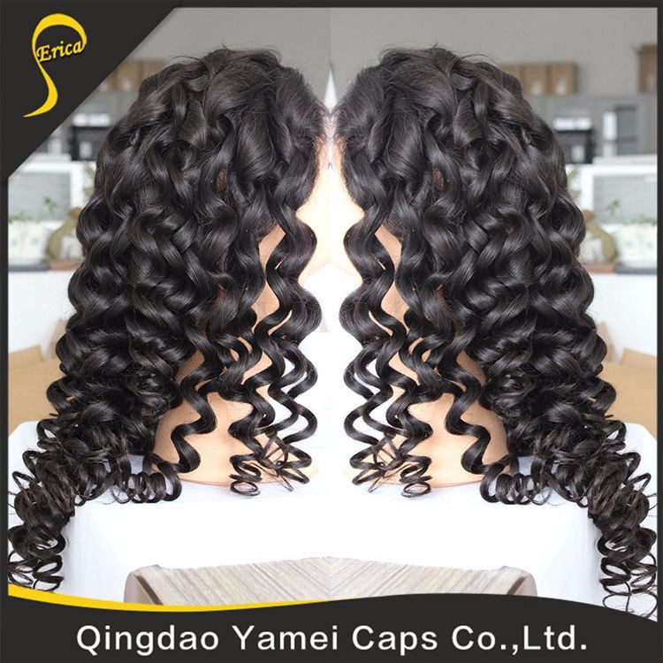 high quality full lace human hair wig for black woman (20).jpg