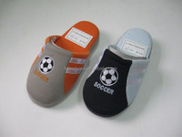 Boys indoor slippers embroideried soccer football slippers stuff slippers