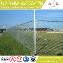 hot sale cheap garden/home decorative pvc coated/galvanized chain link fence(20 years factory,10 years garantee, ISO9001)