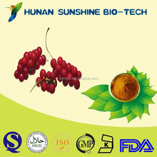 natural herbs schisandra chinensis extract/Schisandrins active powder with alcohol dispelling & penis enlargement function