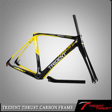 Trident factory price for OEM/DIY use Thrust painting for own brand logos acceptable cadre vtt carbon bicycle frame china