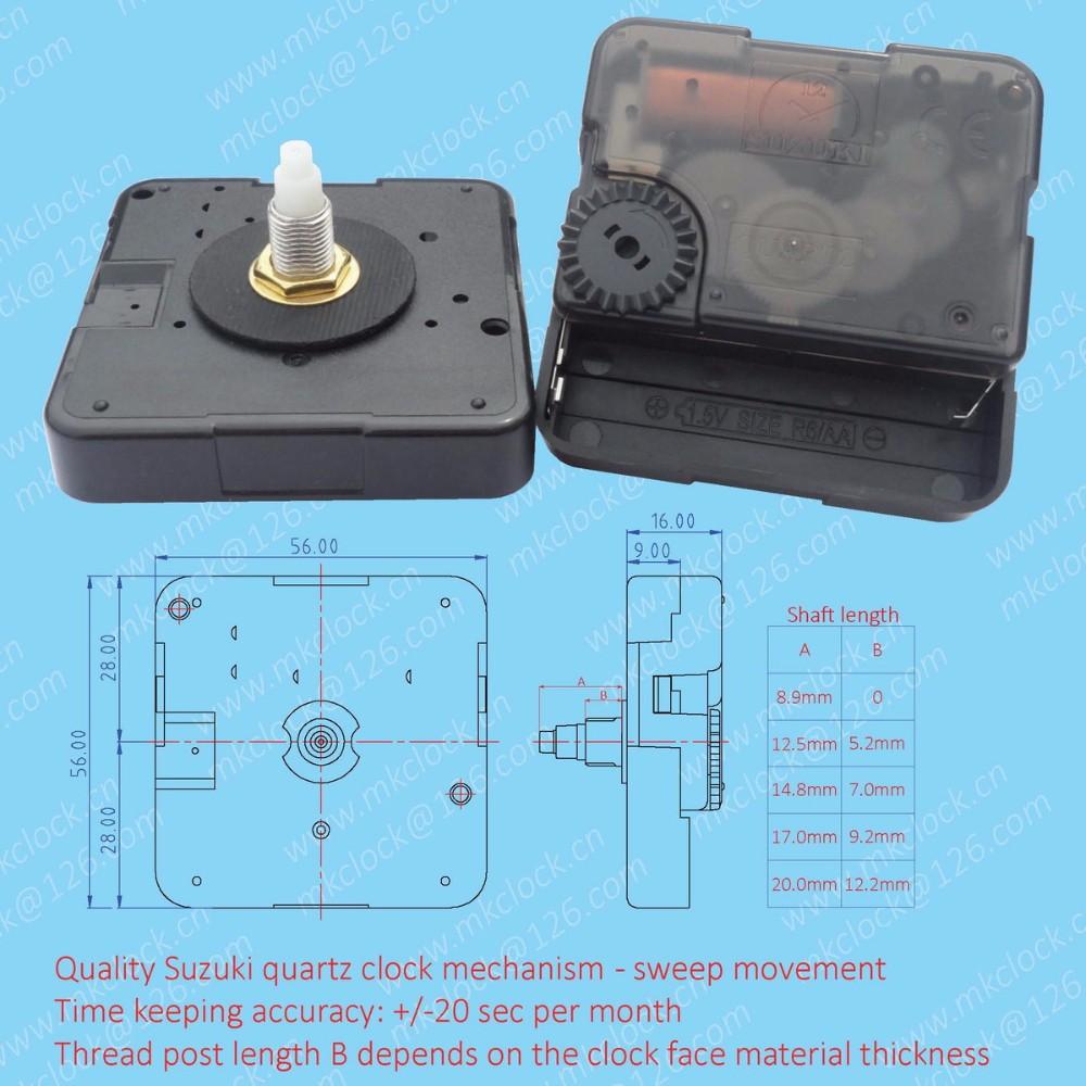 Quality Quartz Analog Clock Mechanism Suzuki Clock Movement Wall