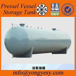 Pressure vessel holding gas with high quality