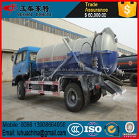Dongfeng RHD Mini Vacuum Suction Sewage Truck 3cbm to 5cbm For Sales