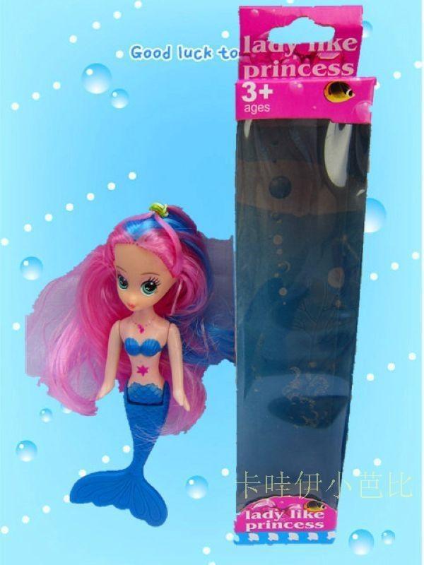 Free Transport, Lady Birthday Reward Christmas Reward With Field 4pcs Cute Mermaid Doll,Doll Equipment For Barbie Doll